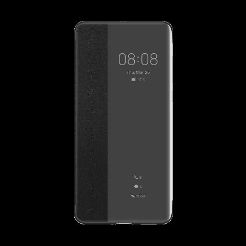 HUAWEI P40 Pro Akıllı Kapaklı Telefon Kılıfı - Siyah