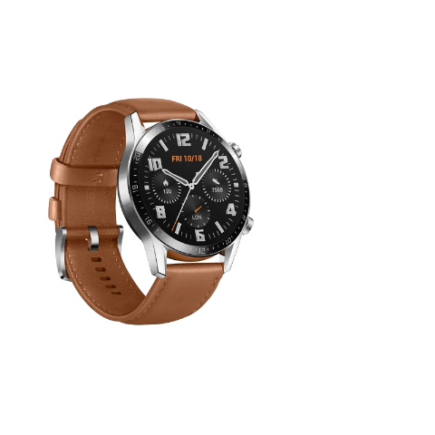 HUAWEI WATCH GT2 Stainless Steel Brown Leather Strap