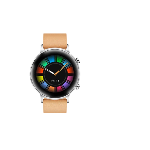 HUAWEI WATCH GT2 Gravel Beige leather Silicone Strap