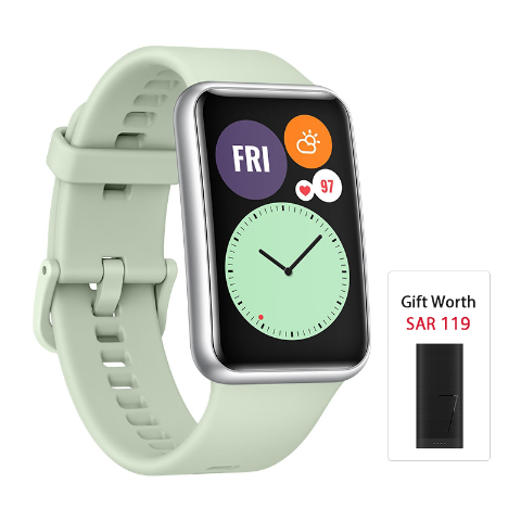 HUAWEI WATCH FIT Mint Green Silicone Strap