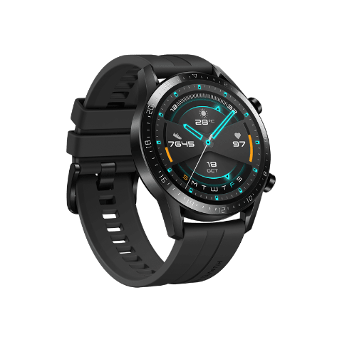 HUAWEI WATCH GT 2 46mm Sport  (Matte Black)
